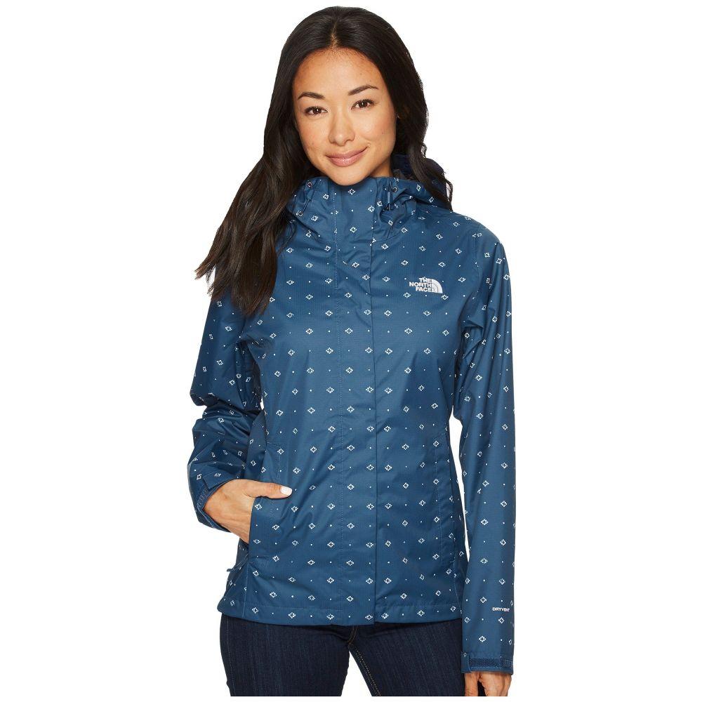 ザ ノースフェイス レディース アウター レインコート【Print Venture Jacket】Blue Wing Teal Airy Bandana Print