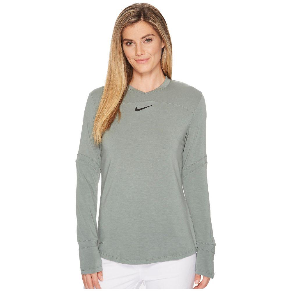 【18%OFF】 ナイキ Sleeve レディース ゴルフ トップス【Dry Top Long ゴルフ Sleeve Top Pullover】Clay Green/Flat Silver, ドレスショップJewel:89eefe1e --- blablagames.net