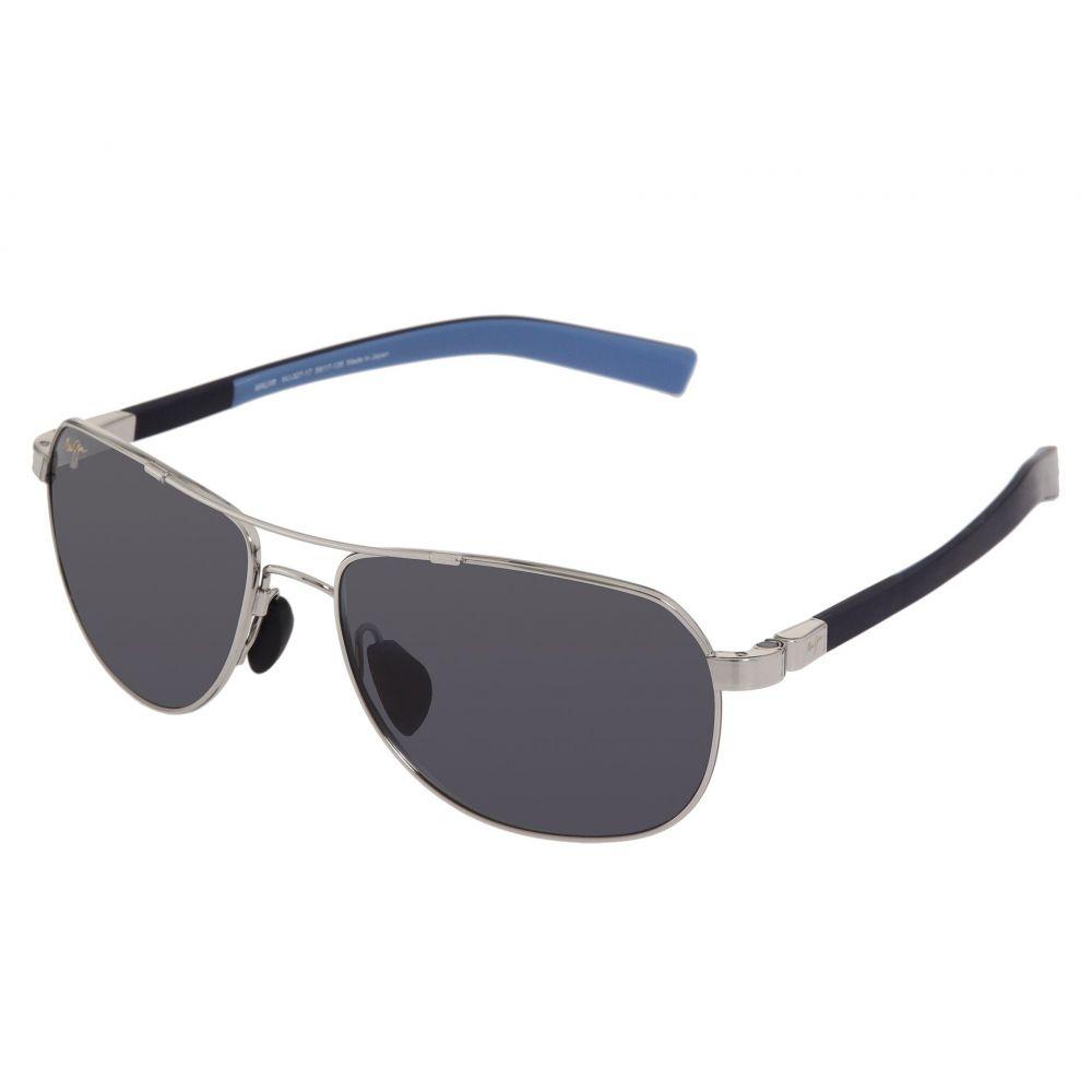マウイジム レディース スポーツサングラス【Guardrails】Silver/Blue/Neutral Grey Lens