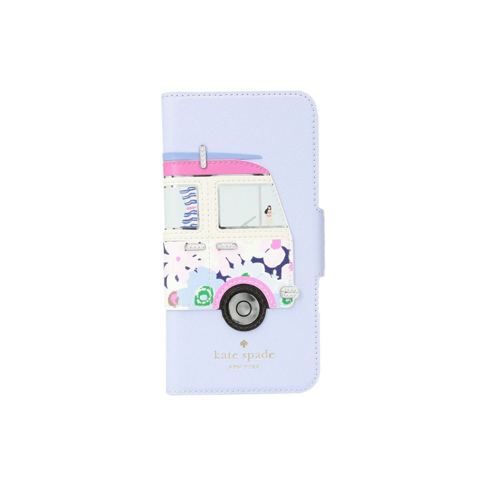 ケイト スペード レディース iPhone (8)ケース【Surf Van Applique Folio Phone Case for iPhone 8】Blue Multi