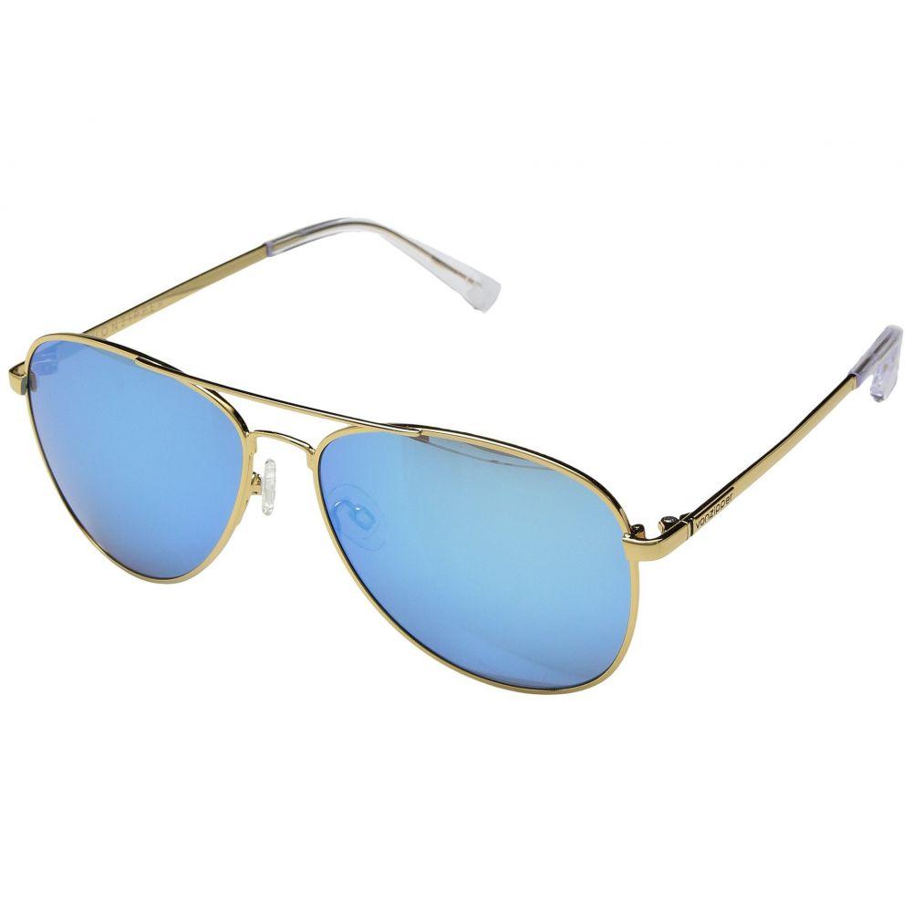 ボンジッパー レディース スポーツサングラス【Farva】Gold Gloss/Blue Chrome