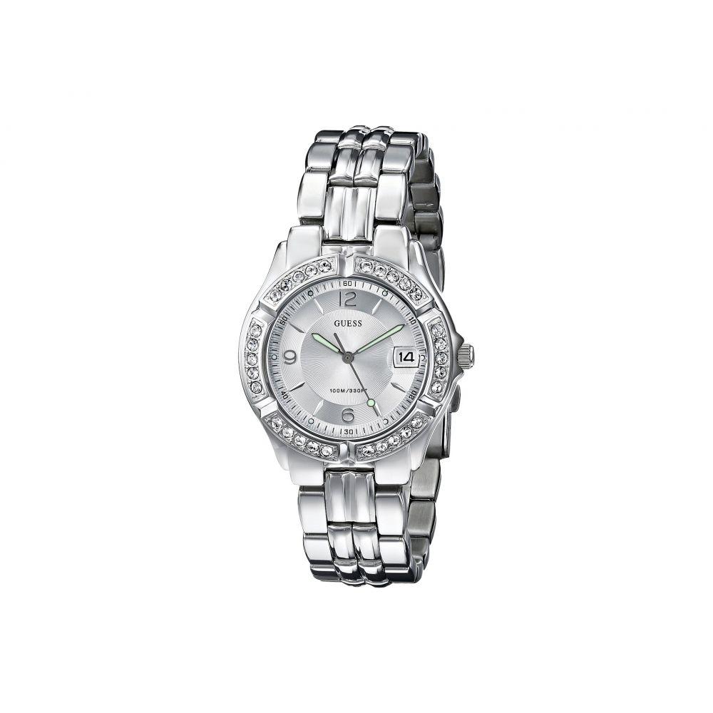 ゲス レディース 腕時計【G75511M Stainless Steel Bracelet Watch】Silver Bracelet/Silver Case With Crystals/Silver Dial
