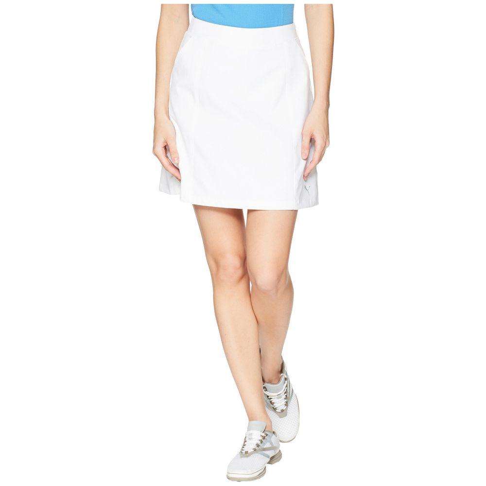 プーマ レディース ゴルフ ボトムス・パンツ【18 Pounce Skirt】Bright White