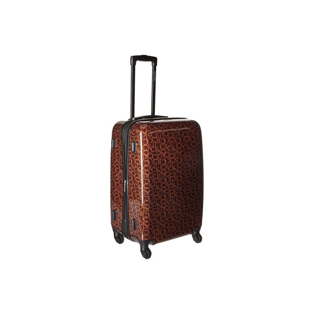 カルバンクライン レディース バッグ スーツケース・キャリーバッグ【CK-510 Signature Hardside 24 Upright Suitcase】Brown