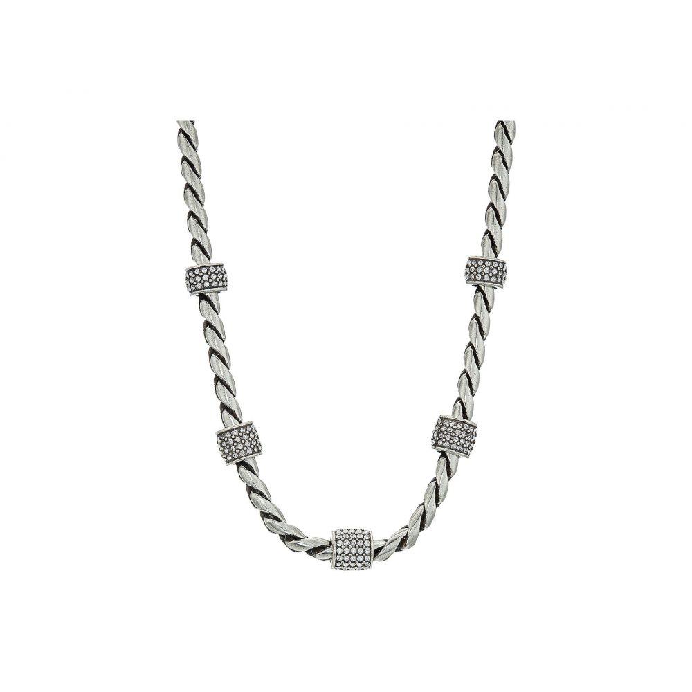 ブライトン レディース ジュエリー・アクセサリー ネックレス【Meridian Necklace Silver Stone】Crystal