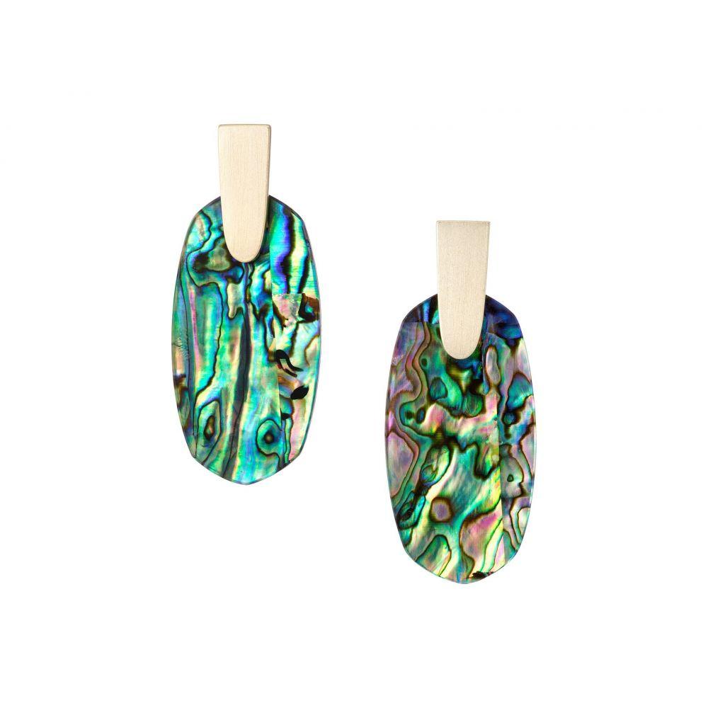 ケンドラ スコット レディース ジュエリー・アクセサリー イヤリング・ピアス【Aragon Earrings】Gold/Abalone Shell
