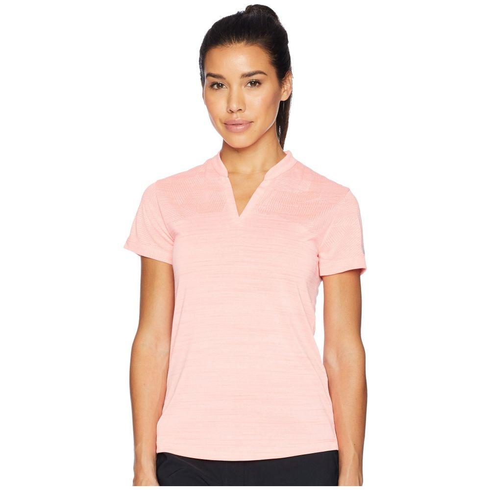 ナイキ レディース ゴルフ トップス【Zonal Cooling Polo Short Sleeve Sub Jacquard】Light Atomic Pink/Flat Silver