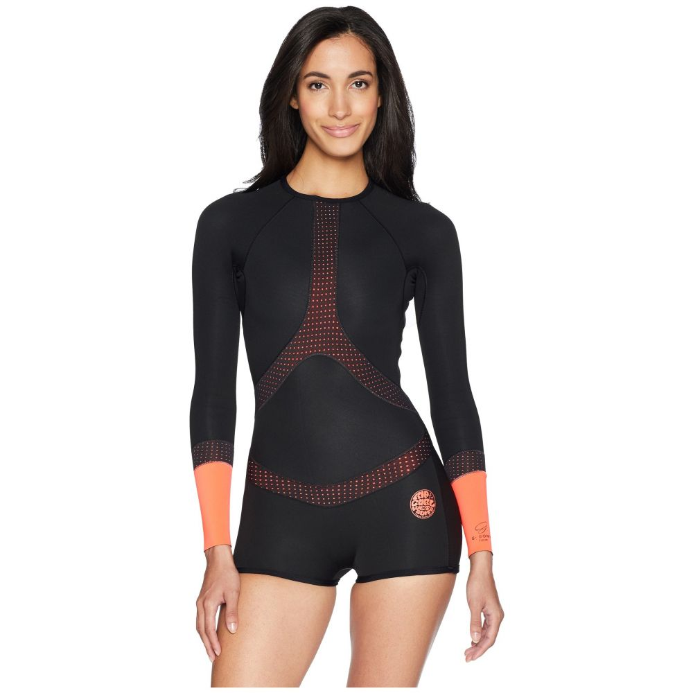 リップカール レディース 水着・ビーチウェア ウェットスーツ【Madi Long Sleeve Boyleg Spring Suit】Black