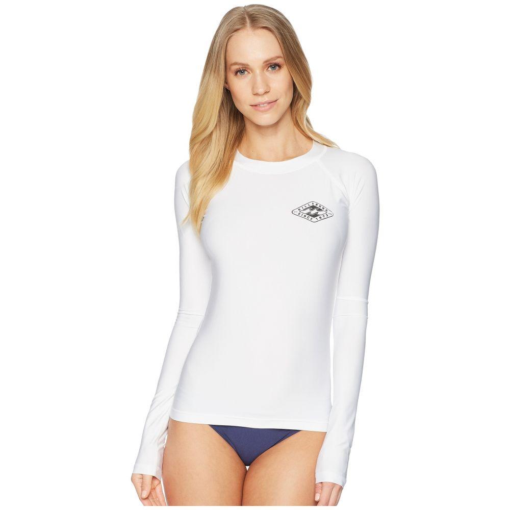 ビラボン レディース 水着・ビーチウェア ラッシュガード【Core Performance Fit Sleeve】White Long Long Fit Sleeve】White, オオカワチチョウ:a8339c6b --- dell-p.com