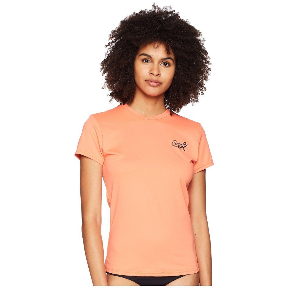 オニール レディース 水着・ビーチウェア ラッシュガード【Skins Short Sleeve Short Sleeve オニール Rash Tee】Coral Punch, Lagrima:9b06502c --- dell-p.com