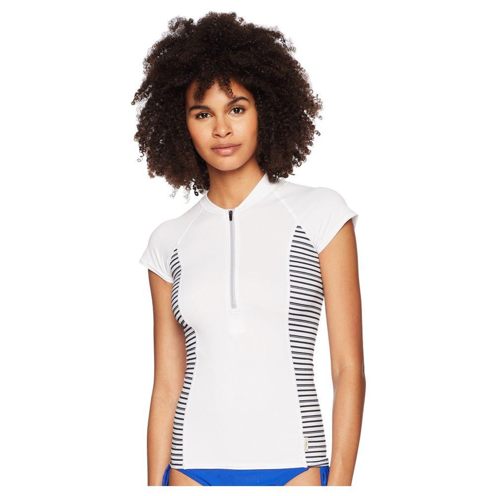 オニール Zip】White/Highway レディース Sun 水着・ビーチウェア ラッシュガード【Cap Front Sleeve Sun Shirt Front Zip】White/Highway Stripe, トバシ:e1a8c76b --- dell-p.com