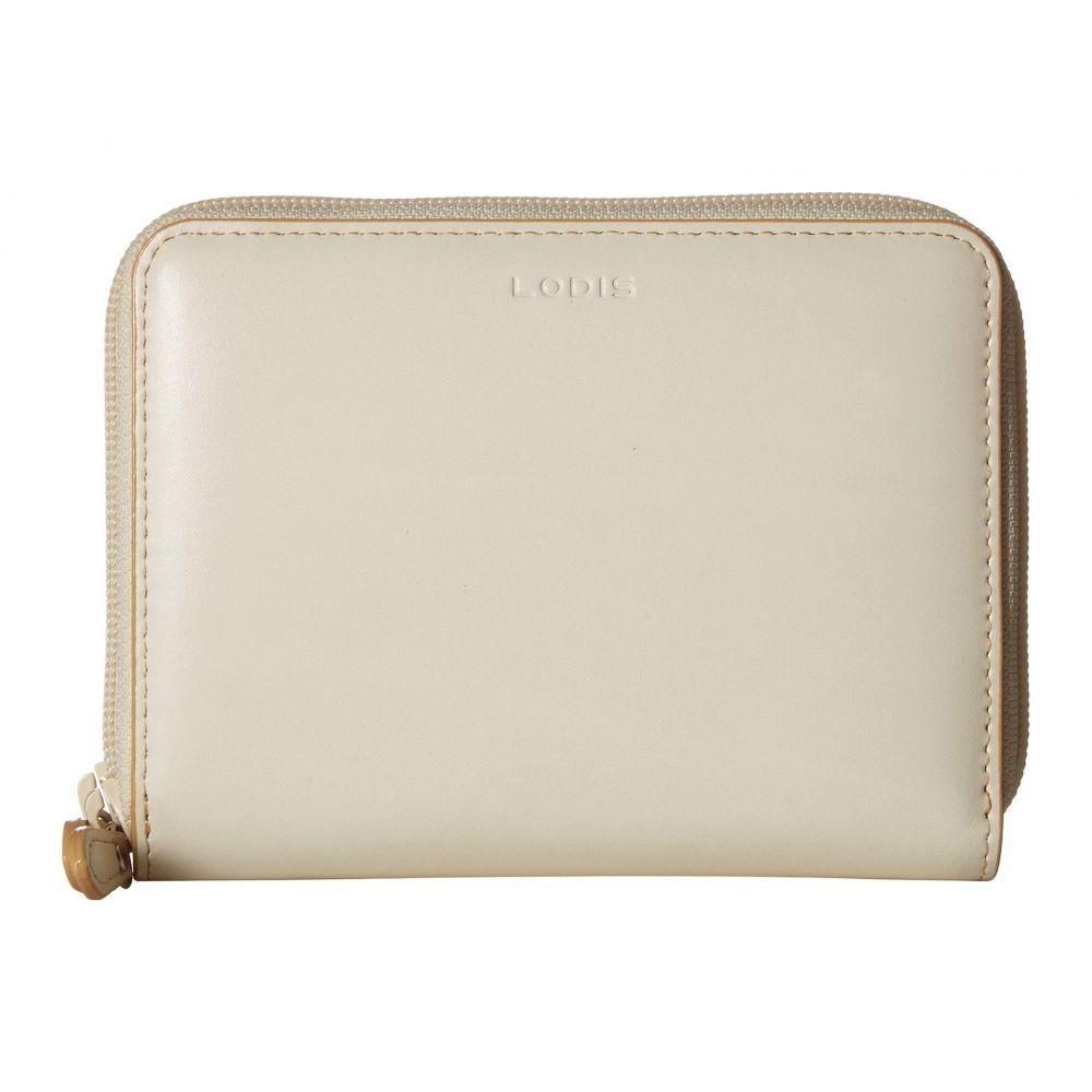ロディス アクセサリー レディース 財布【Audrey RFID Laney Continental Double Zip Wallet】Cream/Natural