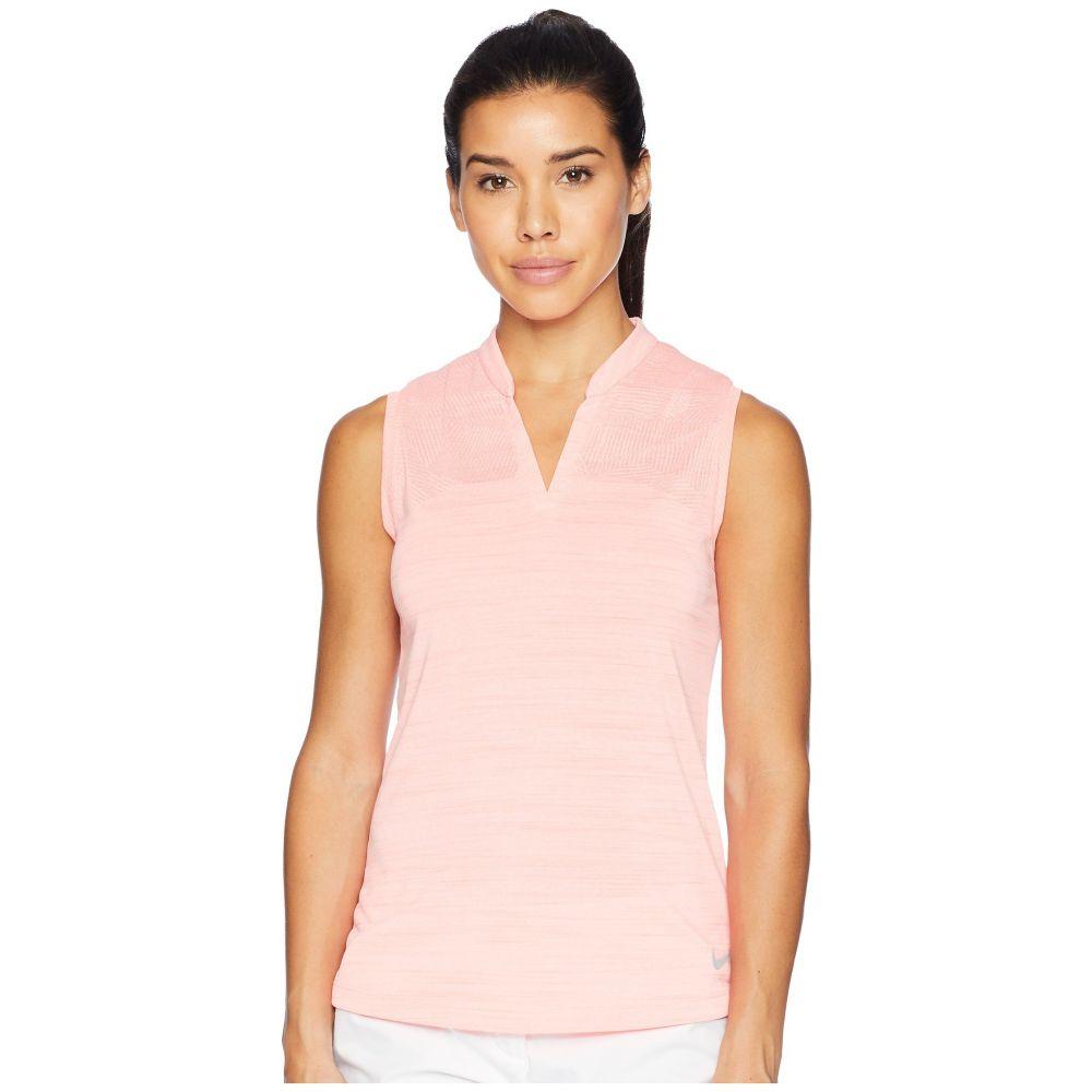 【★超目玉】 ナイキ レディース Polo ゴルフ ナイキ トップス【Zonal Cooling Pink/Flat Polo Sleeve Sub Jacquard】Light Atomic Pink/Flat Silver, 新品同様:9244bdd5 --- blablagames.net