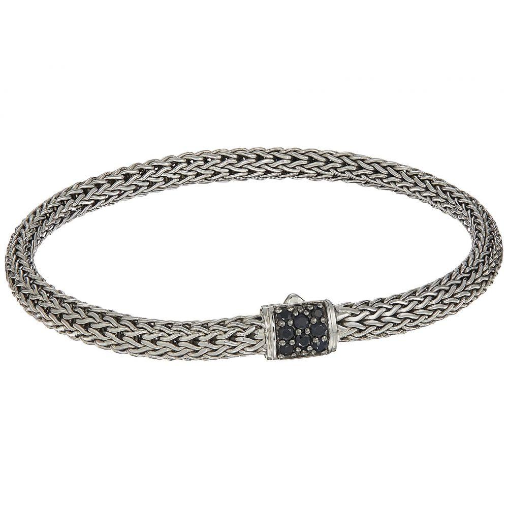 ジョン ハーディー レディース ジュエリー・アクセサリー ブレスレット【Classic Chain 5mm Bracelet with Black Sapphire】Silver