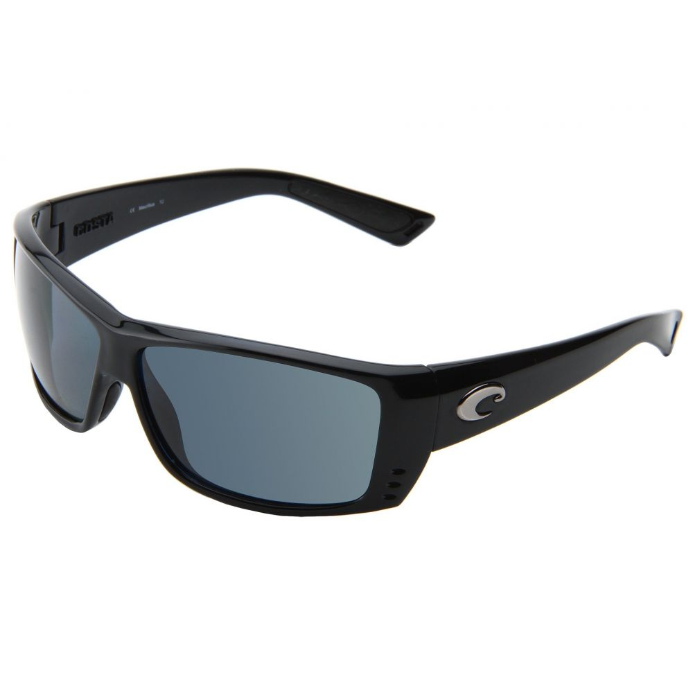 コスタ メンズ スポーツサングラス【Cat Cay 580 Plastic】Black/Gray 580 Plastic Lens
