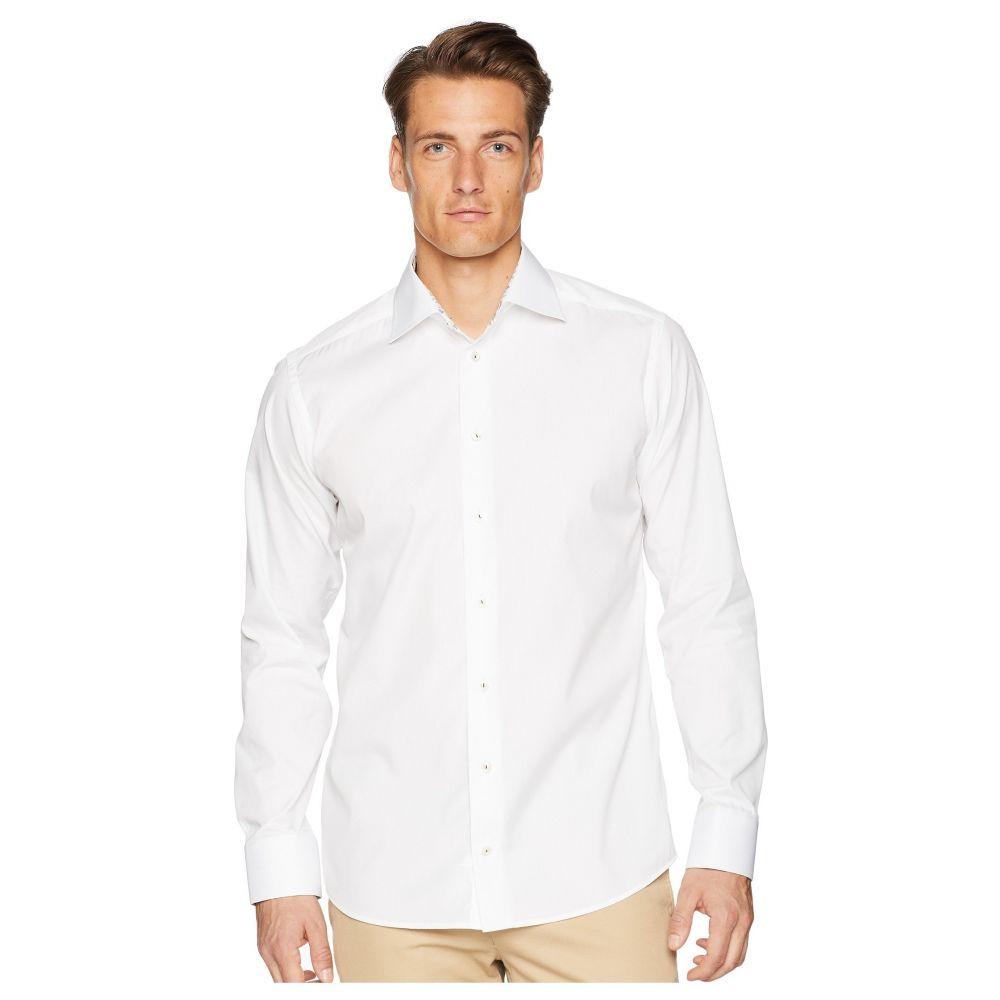 イートン メンズ トップス シャツ【Slim Fit Ice Cream Print Contrast Cuff Shirt】White