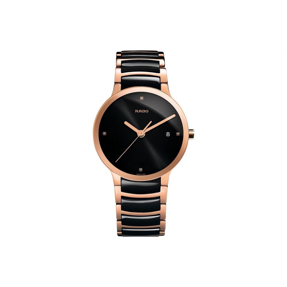 ラドー メンズ 腕時計【Centrix - R30554712】Two-Tone Black/Rose Gold