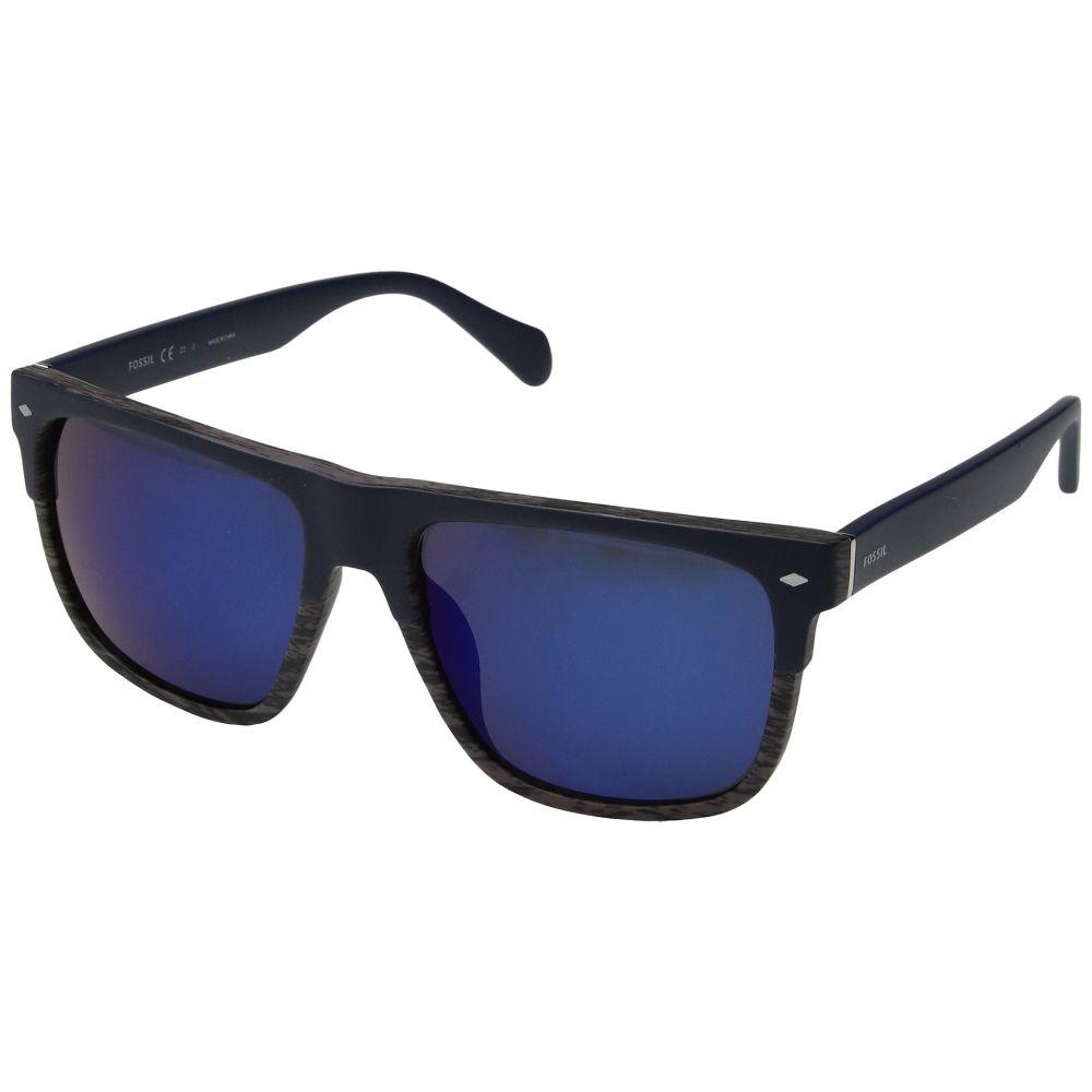 フォッシル メンズ メガネ・サングラス【FOS 3075/S】Matte Blue/Blue Mirror