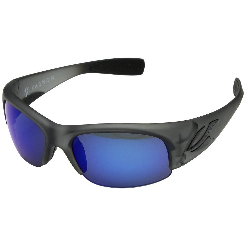 カエノン メンズ スポーツサングラス【Hard Kore】Carbon Matte Grib Ultra Pacific Blue Mirror
