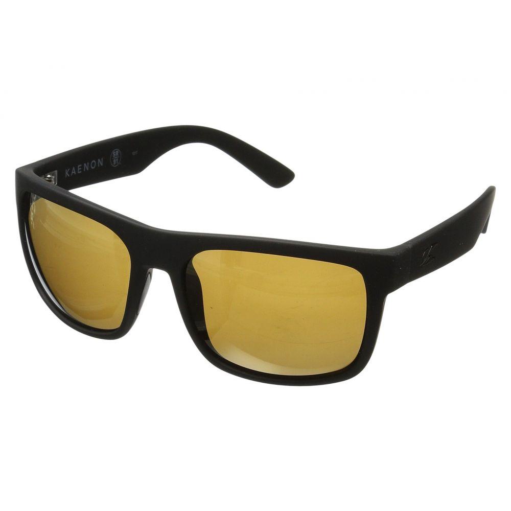 カエノン メンズ スポーツサングラス【Burnet Xl】Black Matte Grip Brown 12-Polarized Gold Mirror
