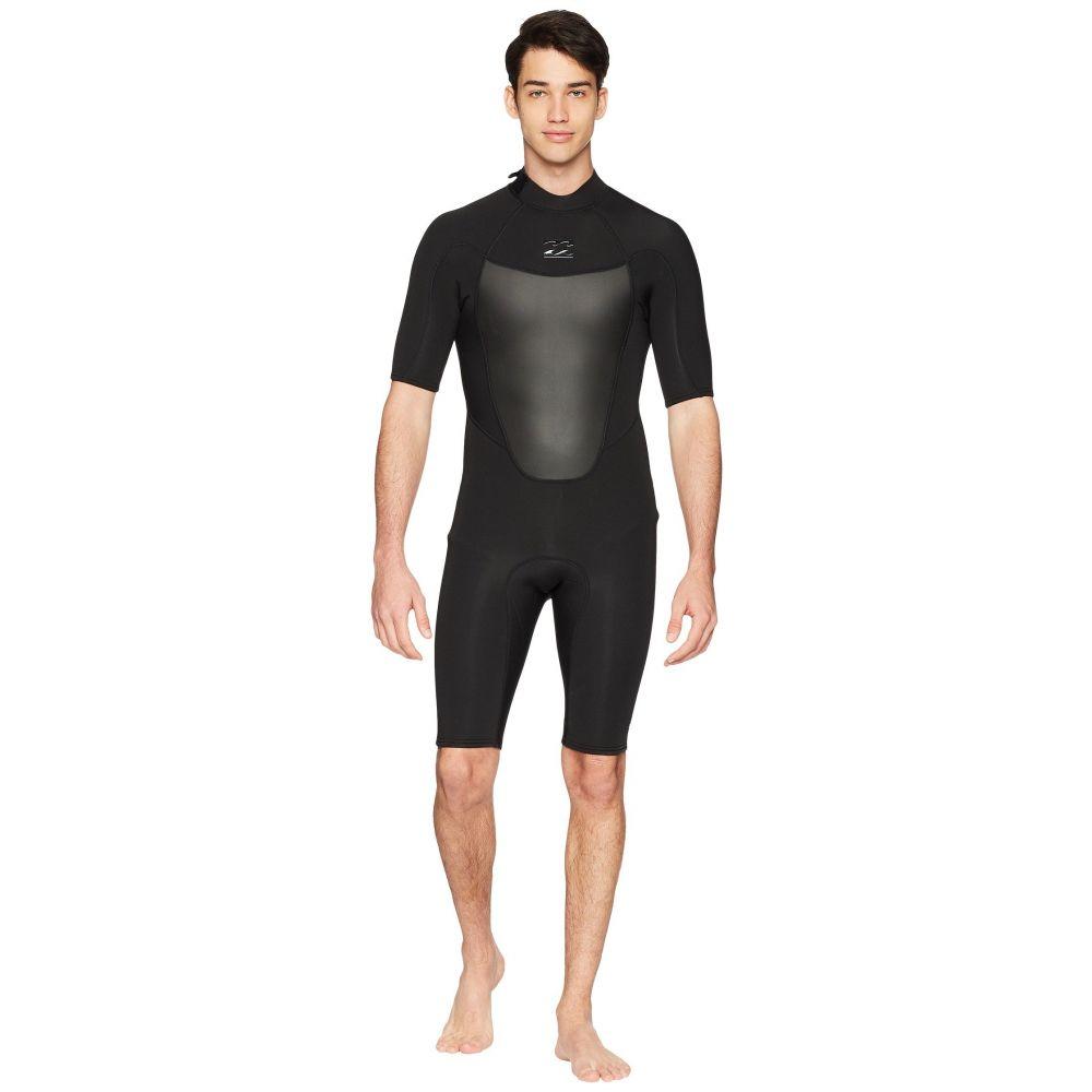 ビラボン メンズ サーフィン ウェットスーツ【202 Absolute Back Zip Short Sleeve】Black
