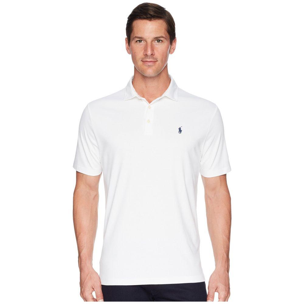 ラルフ ローレン メンズ トップス ポロシャツ【Pima Polo Short Sleeve Knit】White
