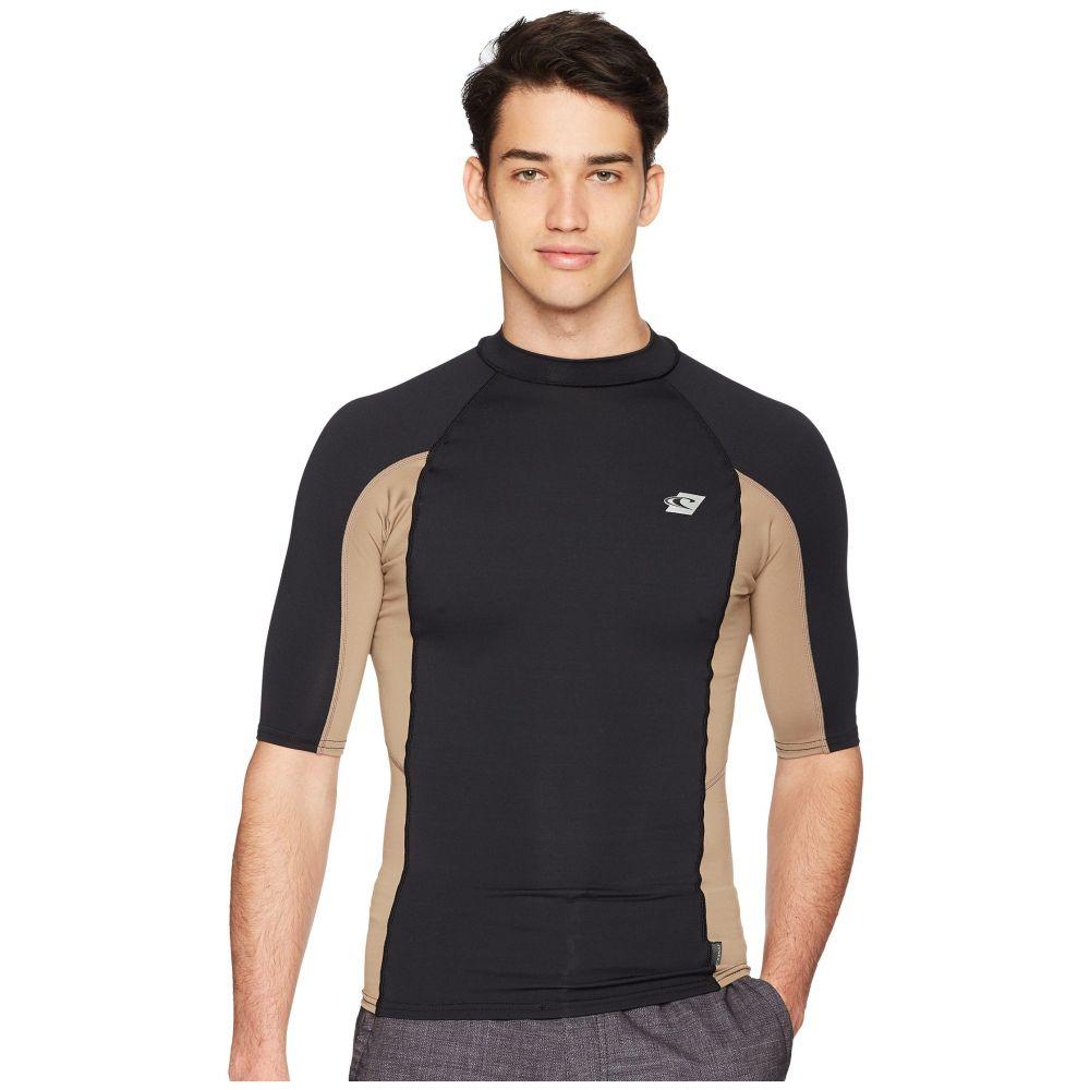 オニール メンズ 水着・ビーチウェア ラッシュガード【Premium Short Sleeve Rashguard】Black/Khaki/Black