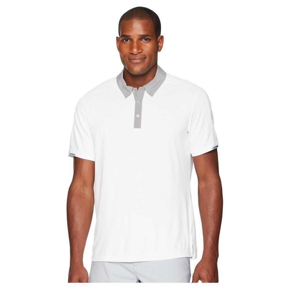 アディダス メンズ ゴルフ トップス【CLIMACHILL Iconic Polo】White/Grey One