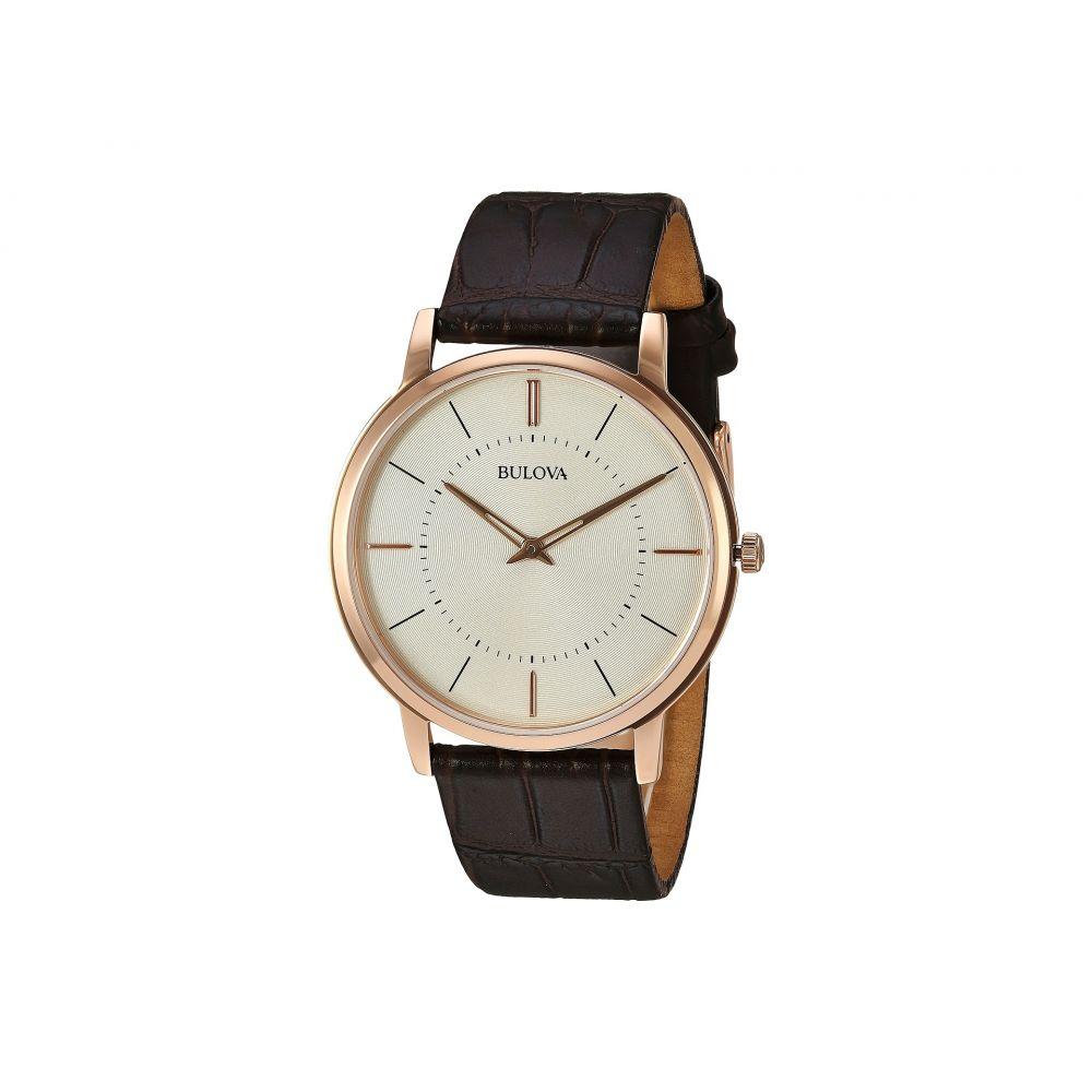 ブローバ メンズ 腕時計【Classic - 97A126】Cream/Rose Gold