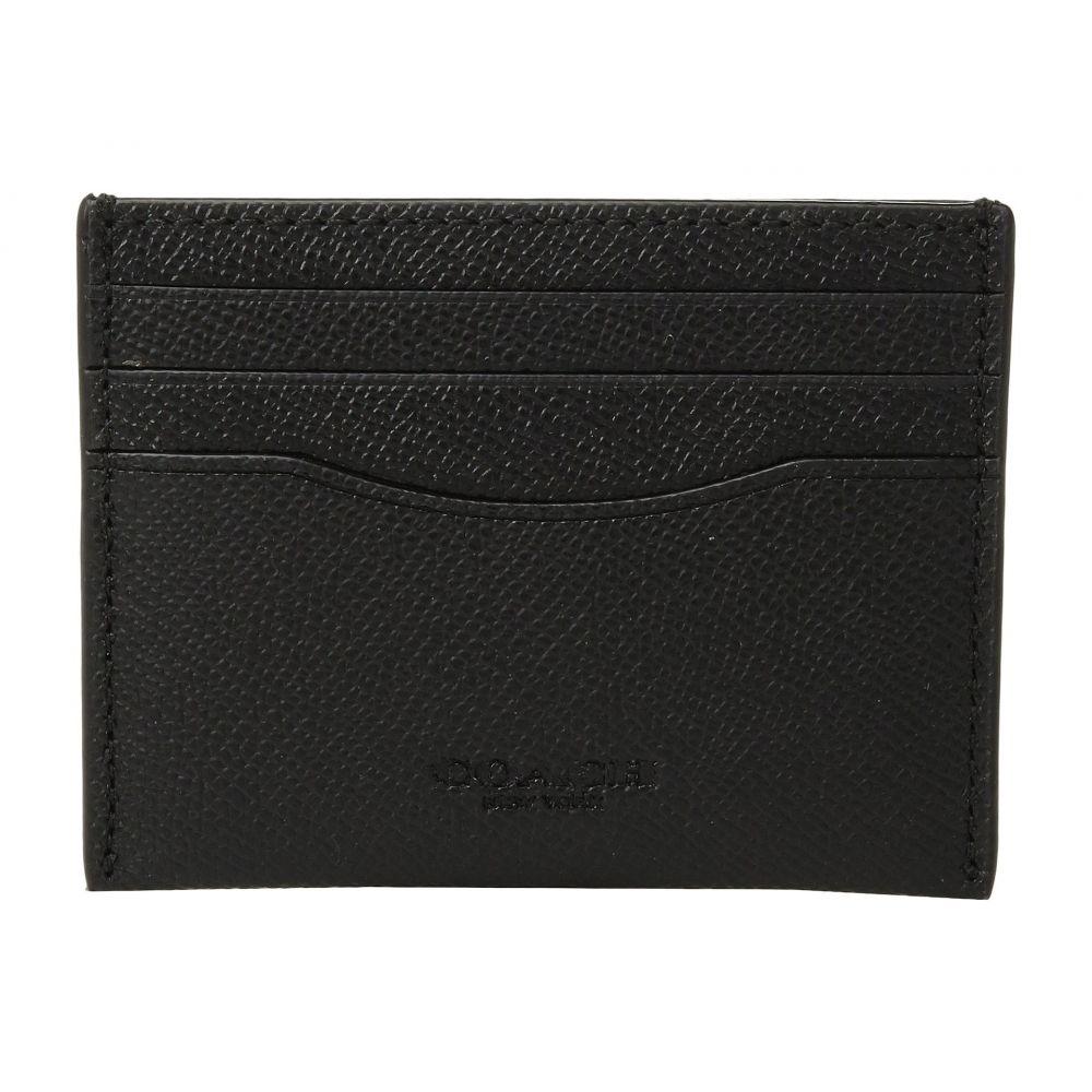 コーチ メンズ カードケース・名刺入れ【Card Case Crossgrain】Black