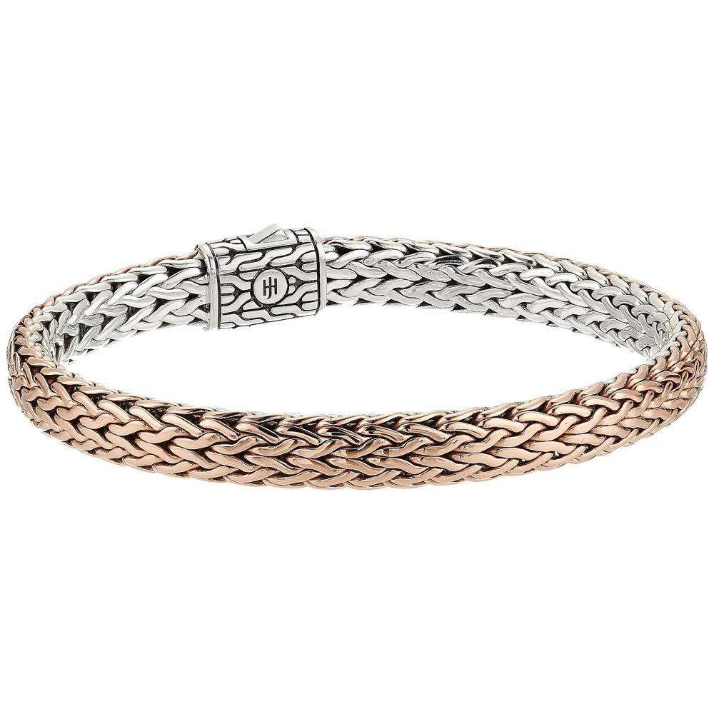ジョン ハーディー メンズ ジュエリー・アクセサリー ブレスレット【Classic Chain 7.5mm Reversible Bracelet】Silver/Bronze