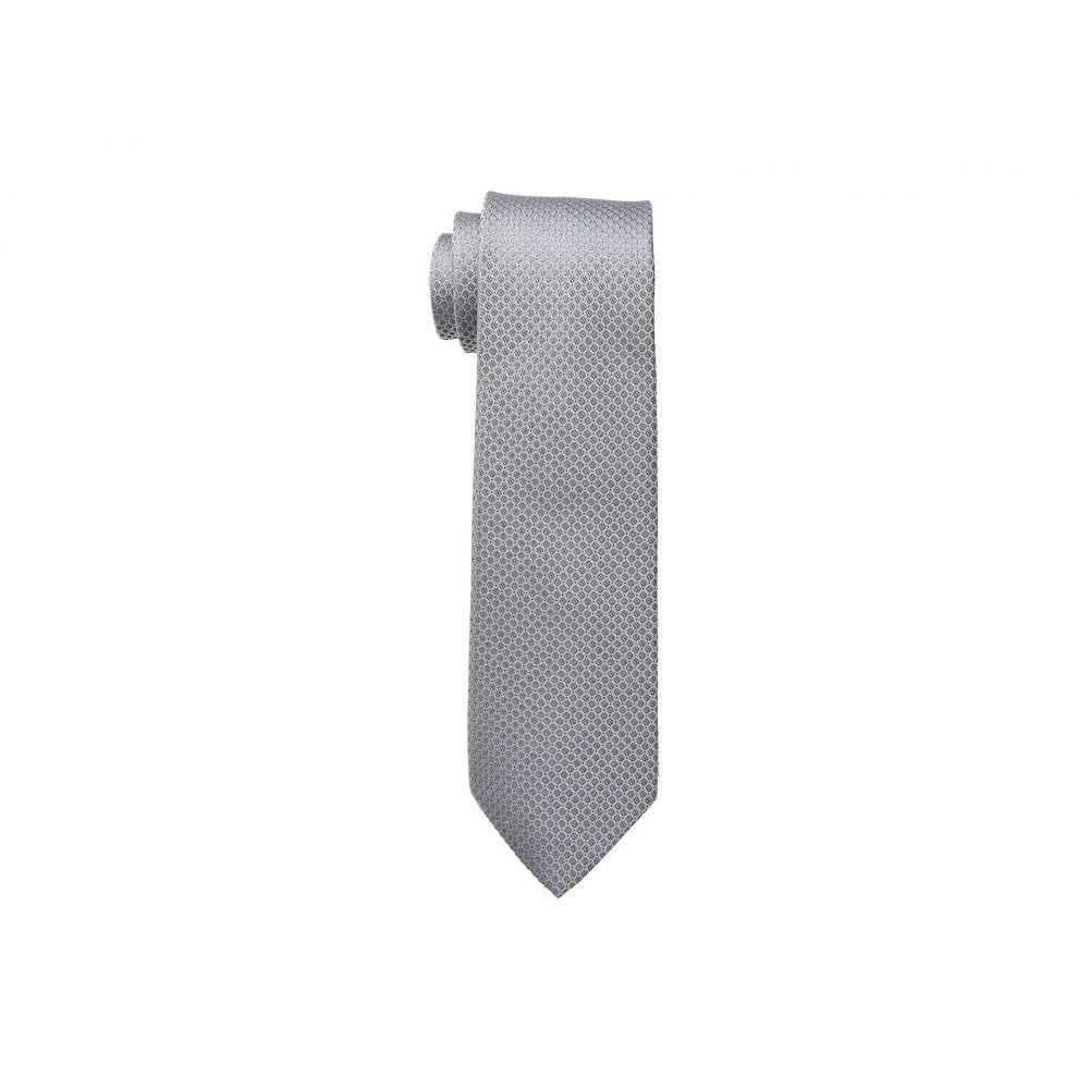 カルバンクライン メンズ ネクタイ【Steel Micro Solid A】Silver