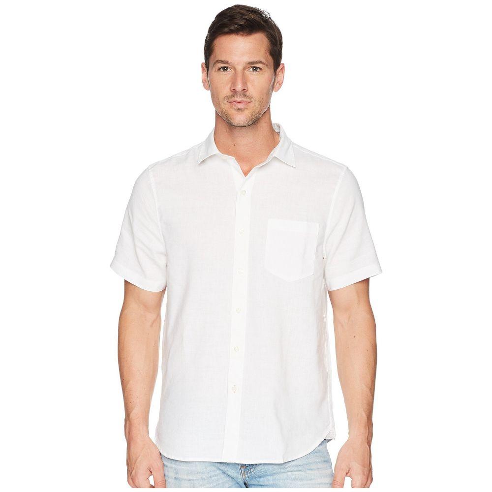 トミー バハマ メンズ トップス 半袖シャツ【Short Sleeve Lanai Tides Linen Shirt】White