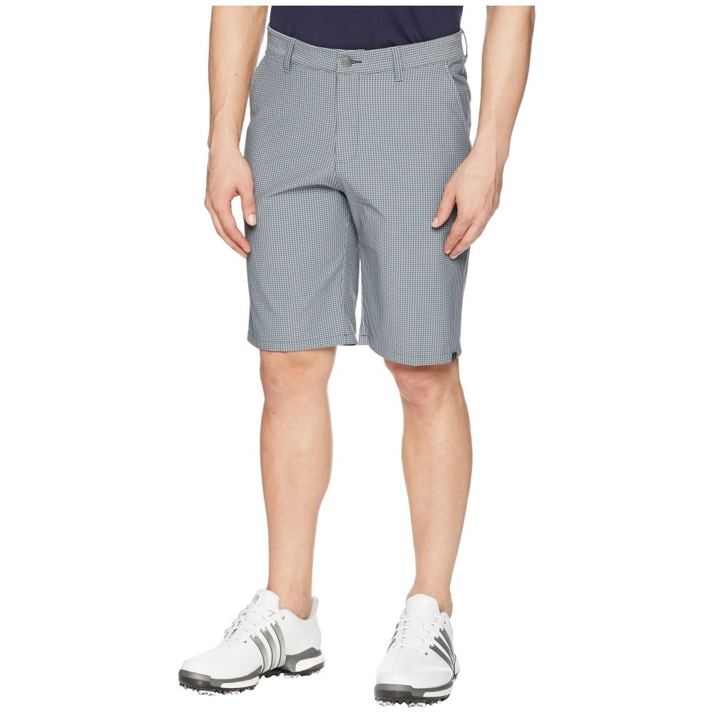 アディダス メンズ ゴルフ ボトムス・パンツ【Ultimate Gingham Stretch Shorts】Carbon/Grey Three