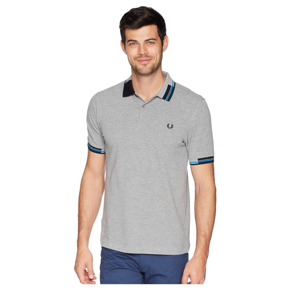 フレッドペリー メンズ トップス ポロシャツ【Abstract Tipped Pique Shirt】Steel Marl