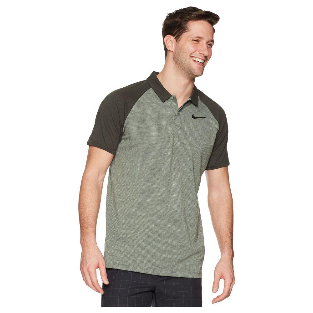 ナイキ メンズ ゴルフ トップス【Dry Polo Raglan】Clay Green/Sequoia/Heather/Black