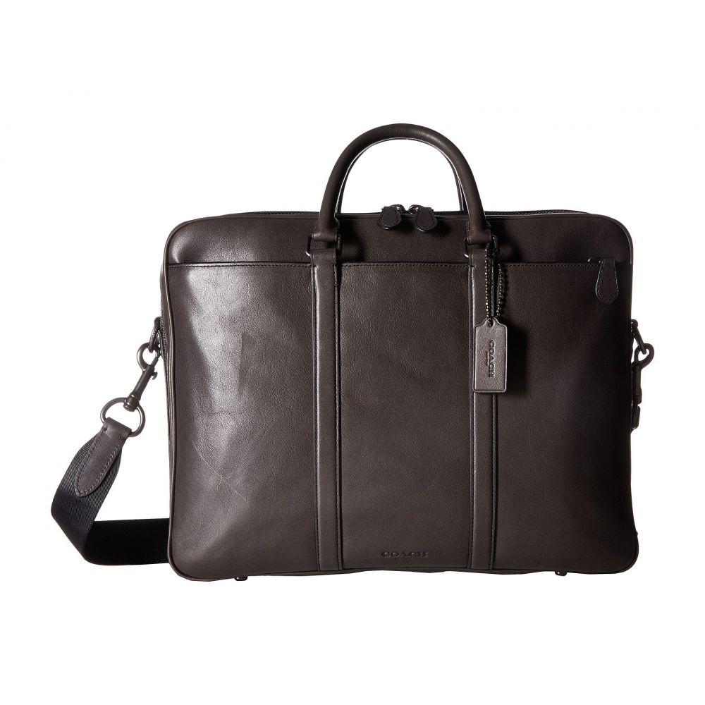 コーチ メンズ バッグ ビジネスバッグ・ブリーフケース【Metropolitan Double Zip Business Case】QB/Chestnut