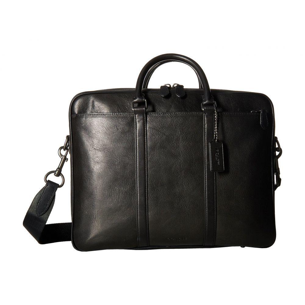 コーチ メンズ バッグ ビジネスバッグ・ブリーフケース【Metropolitan Double Zip Business Case】QB/Black