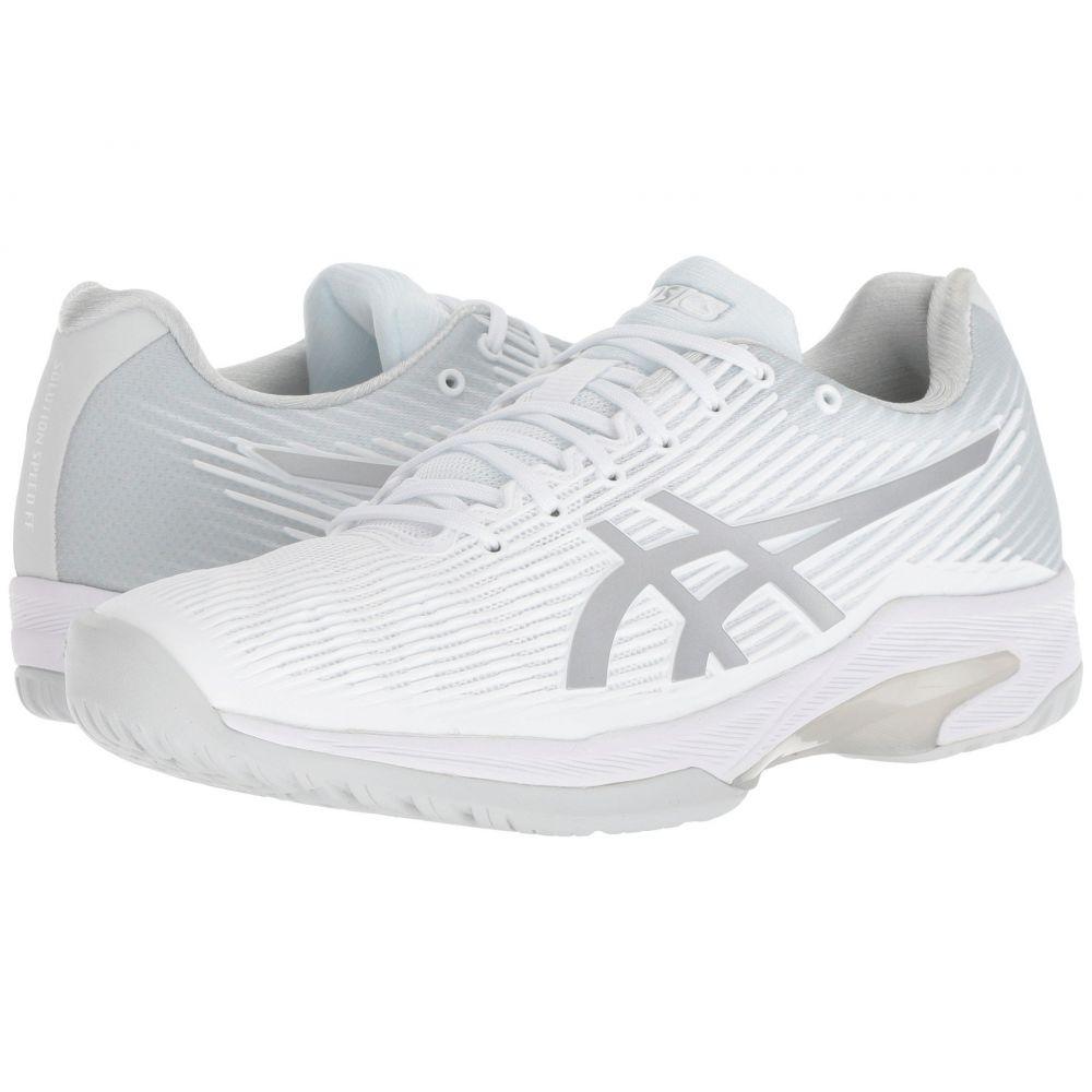 アシックス レディース テニス シューズ・靴【Solution Speed FF】White/Silver