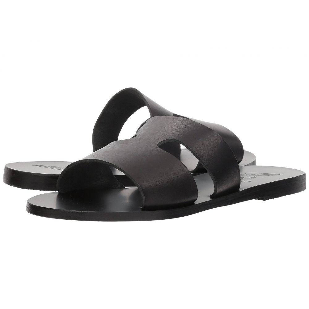 レディース グリーク Vachetta エンシェント サンダルズ サンダル・ミュール【Apteros】Black シューズ・靴