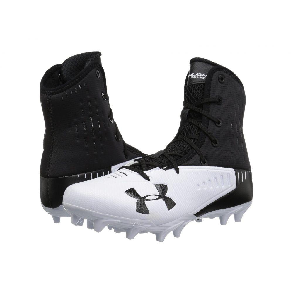 アンダーアーマー メンズ アメリカンフットボール シューズ・靴【UA Highlight Select MC】Black/White