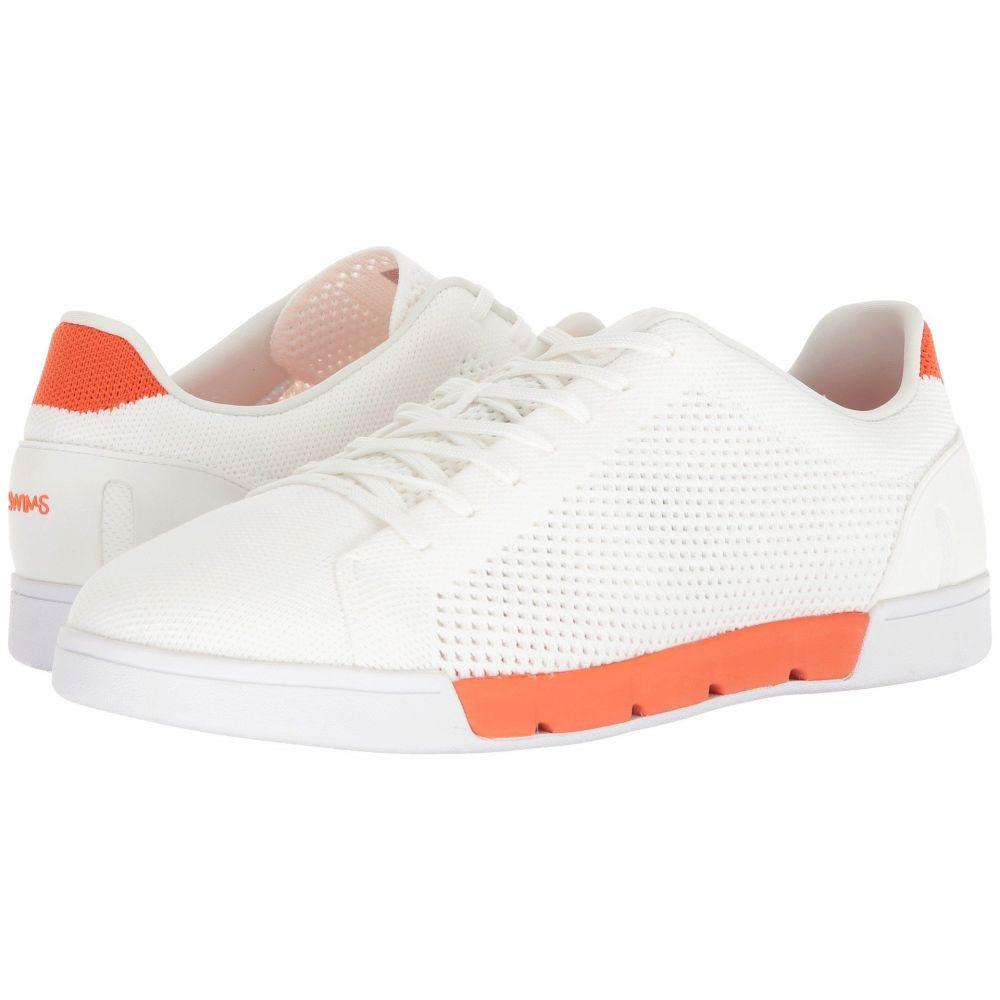 スウィムス メンズ テニス シューズ・靴【Breeze Tennis Knit Sneakers】White/Orange