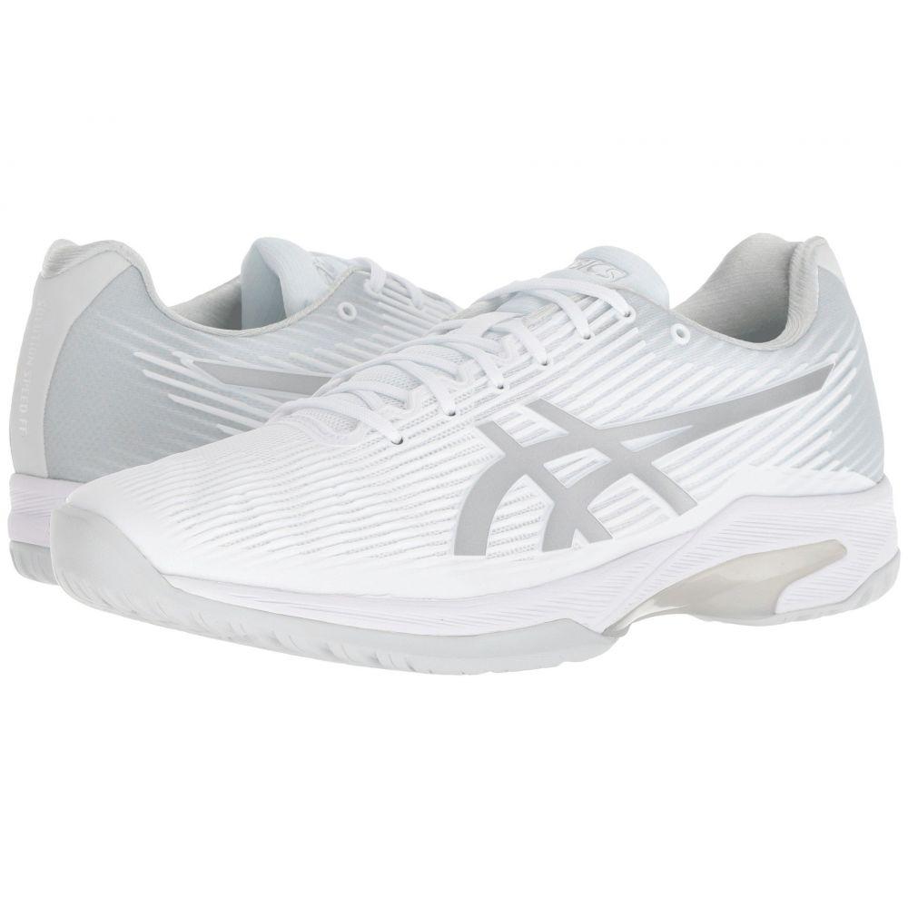 アシックス メンズ テニス シューズ・靴【Solution Speed FF】White/Silver