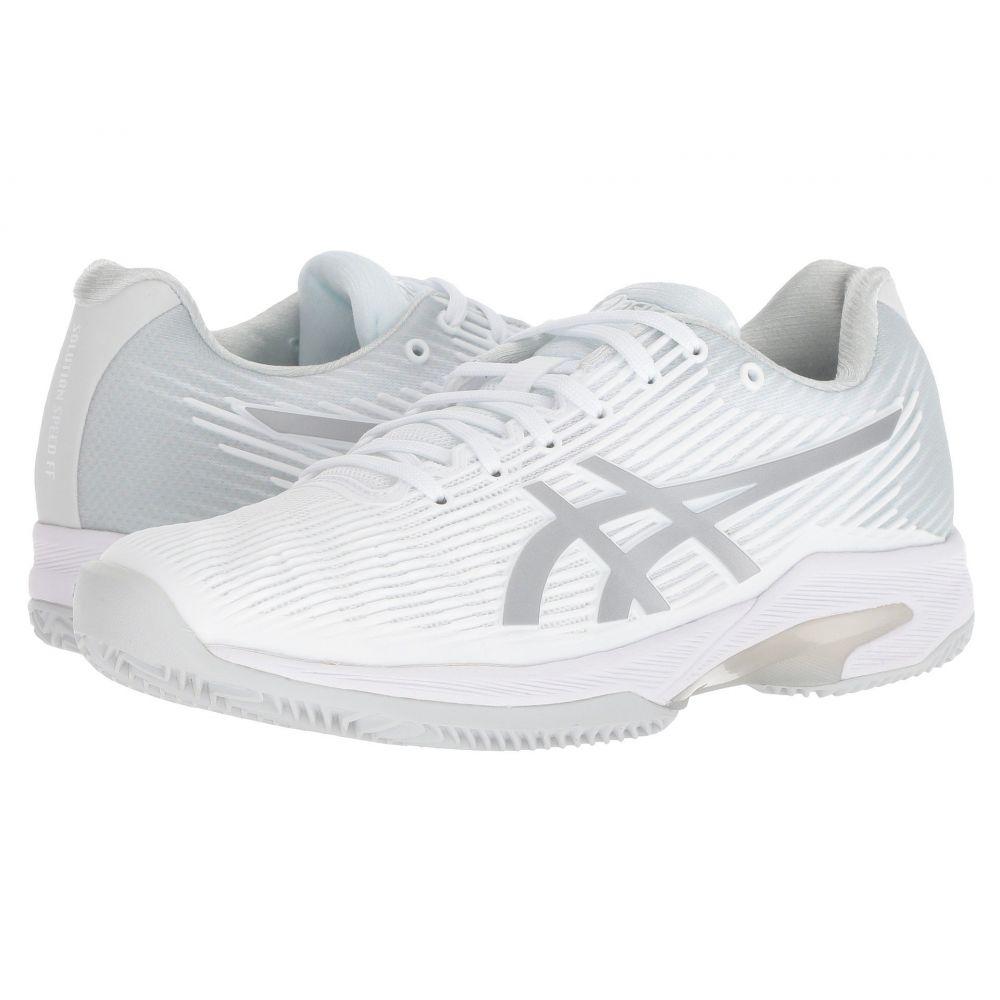 アシックス レディース テニス シューズ・靴【Solution Speed Clay】White/Silver