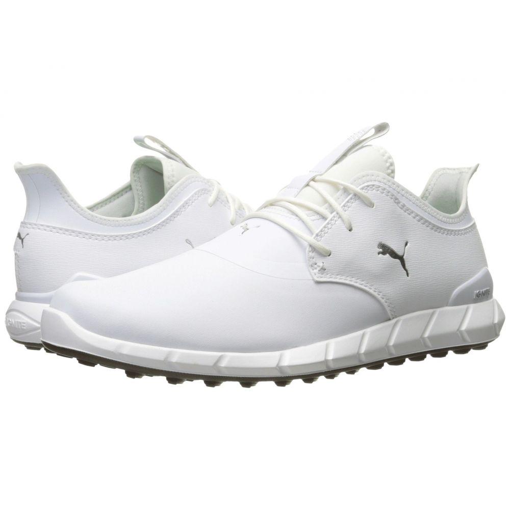 【在庫あり】 プーマ メンズ ゴルフ シューズ・靴【Ignite Spikeless メンズ Spikeless Pro Pro】Puma】Puma White/Puma White/Puma Silver, ファミール:7f3b9a33 --- canoncity.azurewebsites.net