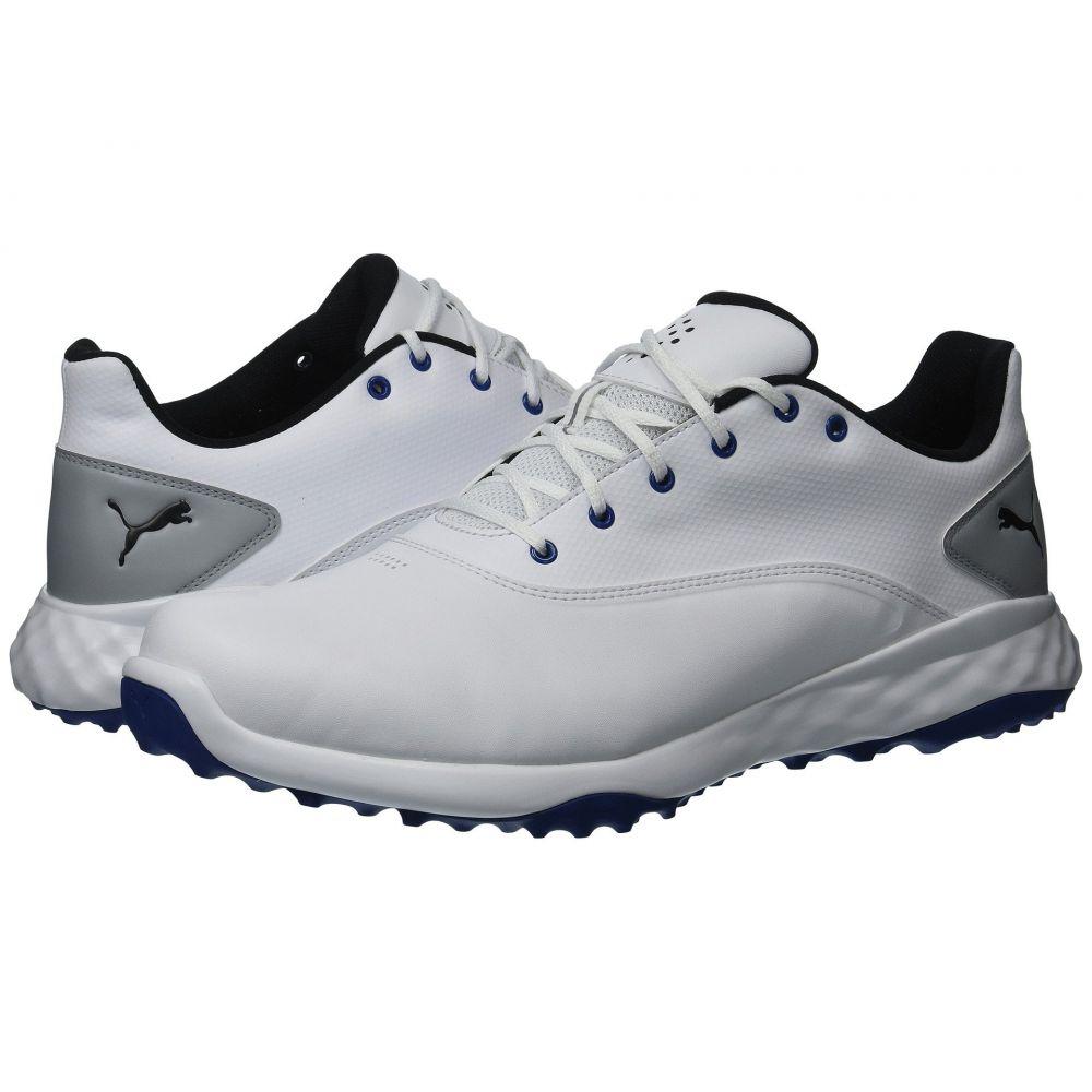 プーマ メンズ ゴルフ シューズ・靴【Grip Fusion】Puma White/Puma Black/Blue