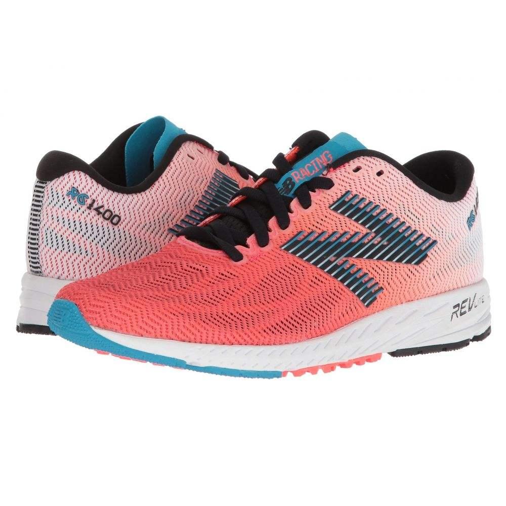 ニューバランス レディース ランニング・ウォーキング シューズ・靴【1400v6】Vivid Coral/Black