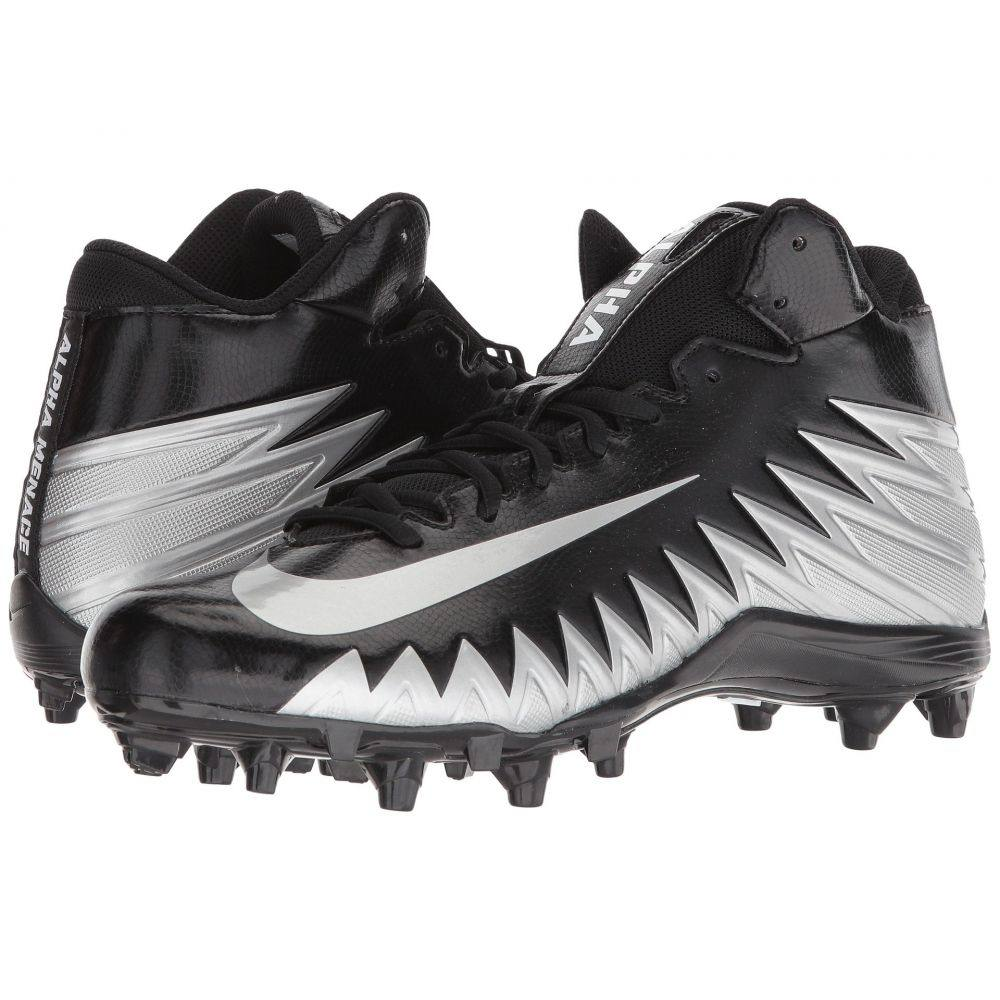 ナイキ メンズ アメリカンフットボール シューズ・靴【Alpha Menace Varsity Mid】Black/Metallic Silver/White