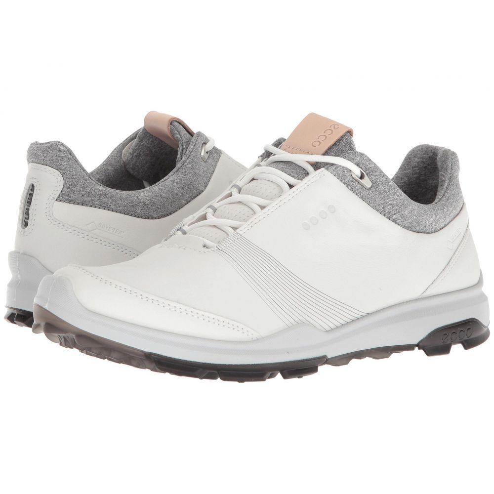 エコー レディース ゴルフ シューズ・靴【Biom Hybrid 3 GTX】White/Black