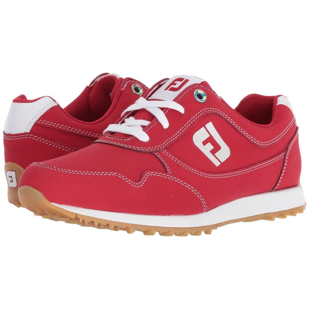 フットジョイ レディース ゴルフ シューズ・靴【Sport Retro Spikeless Street Sneaker】All Over Red